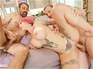 tucked Anna Bell Peaks busts ash she porks 2 sausages