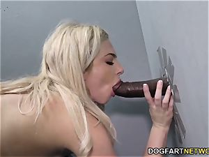 Dahlia Sky Does anal invasion at Gloryhole
