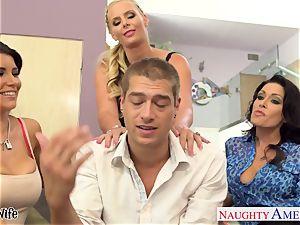 Wives Jessica Jaymes, Phoenix Marie and Romi Rain boink