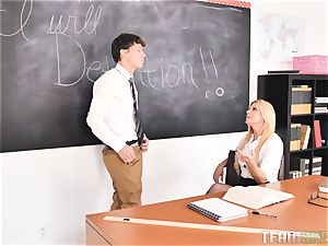 schoolgirl jams his meaty man-meat into mummy lecturer India Summers