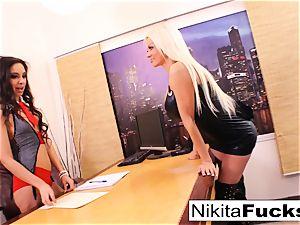 Nikita's lezzy office poke