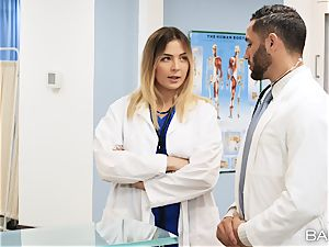 doctor and nurse Blair Williams smash in clinic