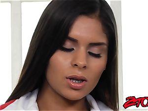 luxurious Latina nurse pulverized and strewn with jizm