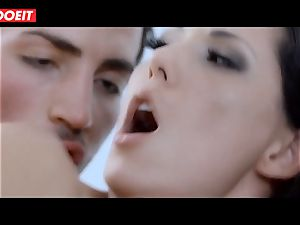 Spanish superstar stunner Alexa Tomas gets jizz in facehole