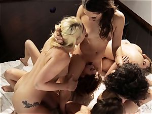 Bree Daniels and her pals have a girl-on-girl hookup