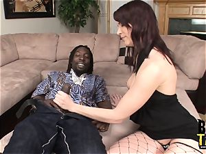 Dana pulverizes giant dark-hued hard-on in Her gaping hole