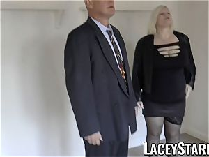 LACEYSTARR - Mature English stunner plowed and facialized