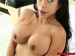 Bigtitted asian fuckslut fucked rough from behind
