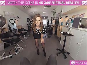 VRBangers.com Hairdresser Ella drilled rigid and facial cumshot