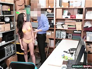 red-hot Latina Sophia Leone gets her cooter pulverized by officers massive meatpipe so stiff