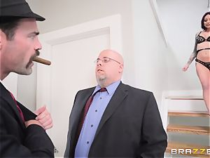 humble husband watches his wifey Monique Alexander get butt-fucked