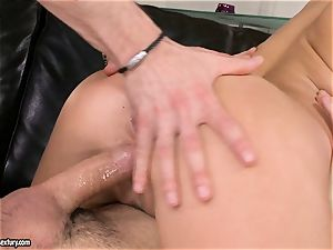 Aletta Ocean spunk on face after a mouth-watering 3 way