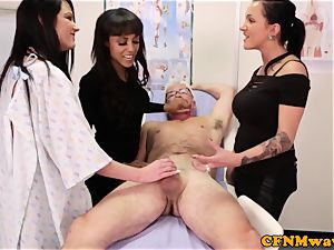 harsh cop Chantelle Fox giving hj to crank physician