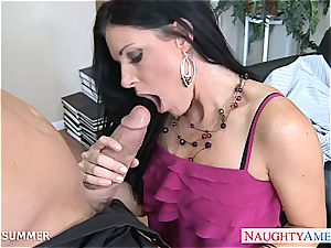 India Summer looks stunning in high heels getting drilled