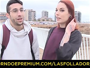LAS FOLLADORAS - Silvia Ruby takes random boy for sex
