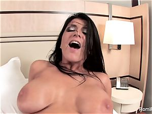 Romi Rain gets a great poke from a enormous man-meat
