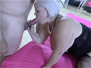 LACEYSTARR - hungry granny gang-fucked