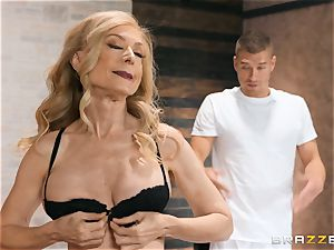 Mature Nina Hartley figure massage