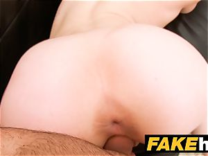 faux Agent creampie for new red-haired yankee model
