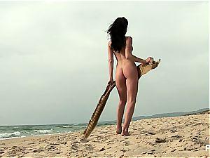 Nella at the beach