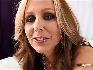 Julia Ann likes jizm on her mounds
