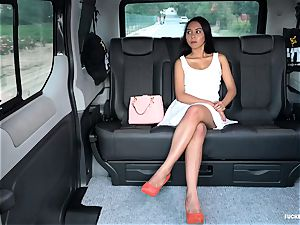 pounded IN TRAFFIC - steamy car ravage with Indonesian stunner