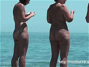 super-fucking-hot female at the beach highly torrid voyeur hunter