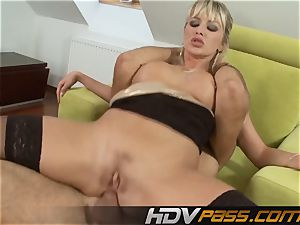 Natali Di Angelo blowing And plowing rigid