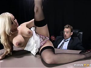 sloppy chief is given a bangable ass-fuck wish by Britney Amber