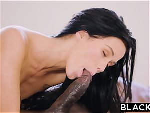 BLACKED hot Megan Rain Gets DP'd By Her Sugar dad and His acquaintance