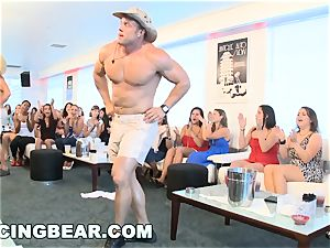 CFNM motel soiree with ginormous sausage male Strippers