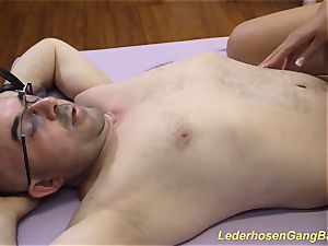 big-titted german ladies in a insatiable gangbang sex