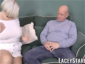 LACEYSTARR - huge-boobed GILF negotiates a great fuckbox deal