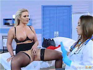 nasty patient Phoenix Marie lezzie poke with Dani Daniels