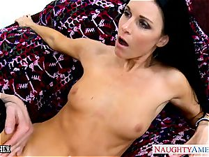 outstanding India Summer in tights sucks man-meat