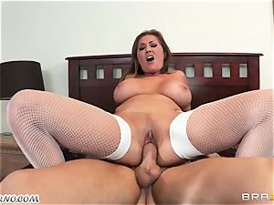 Adult big-chested nanny deep throats chisel her boss's sonnie