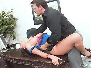 chinese ultra-cutie London Keyes gets an office plow