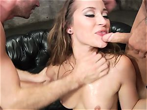 Dani Daniels gets her torrid cooch crammed with firm manmeat