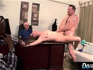 steaming wife Daisy Layne drills and eats spunk