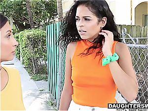 Crafty daughters inhale their daddies for cash