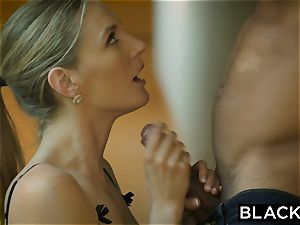 BLACKED super-fucking-hot wifey cuckolds husband with dark-hued neighbor