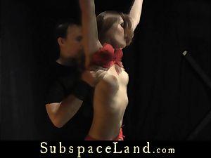 Tina Blade arse flogged in sensuous red underwear
