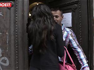 LETSDOEIT - Spanish babe Gets nailed By Hungarian knob