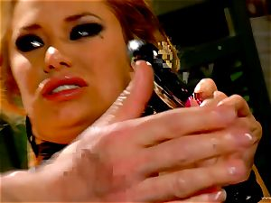 Shyla Stylez takes this rock-hard pecker deep in her taut arse