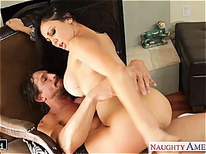 Alluring Audrey Bitoni antsy for a large prick to treat her right