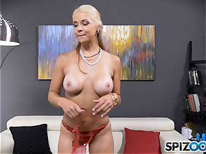 sexy horny stunner Sarah Vandella has a bum buttplug plunged in her caboose