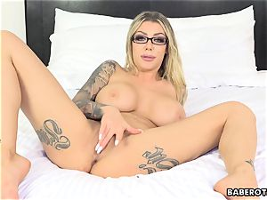 mischievous Karma RX playthings her bum with a fuck stick solo