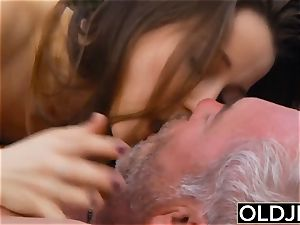 elderly young porn - nubile sport Yoga lecturer fucked rigid