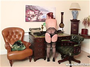 ginger-haired is vintage nylon fetish superslut at wank Off Club