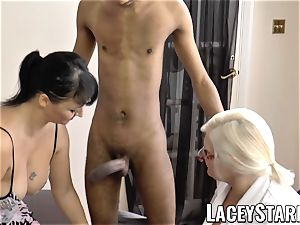 LACEYSTARR - Mature physician pummeled by interracial duo